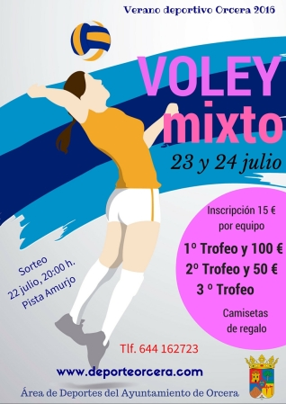 cartel voley mixto