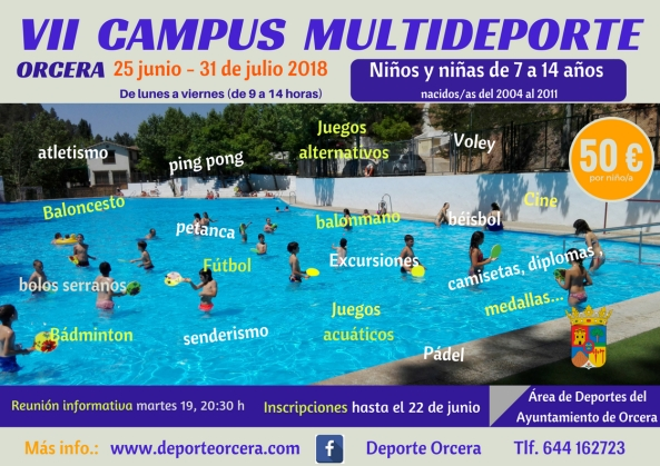 cartel CAMPUS MULTIDEPORTE 2018