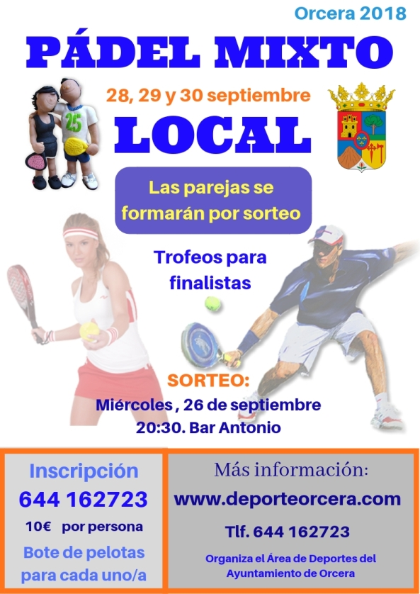PÁDEL MIXTO LOCAL 2018