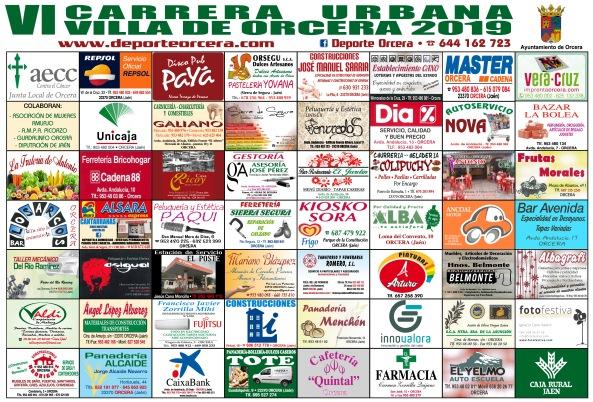 cartel patrocinadores Carrera 2019