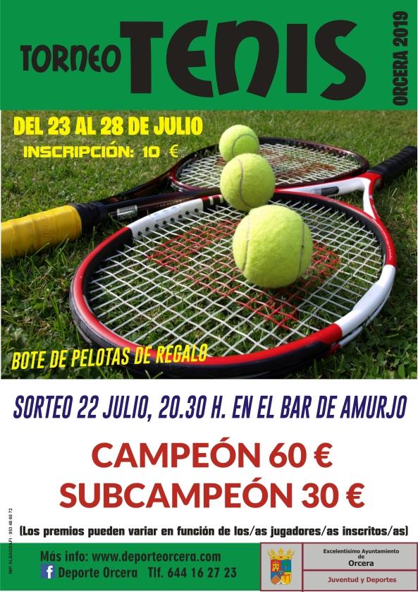 cartel tenis 2019