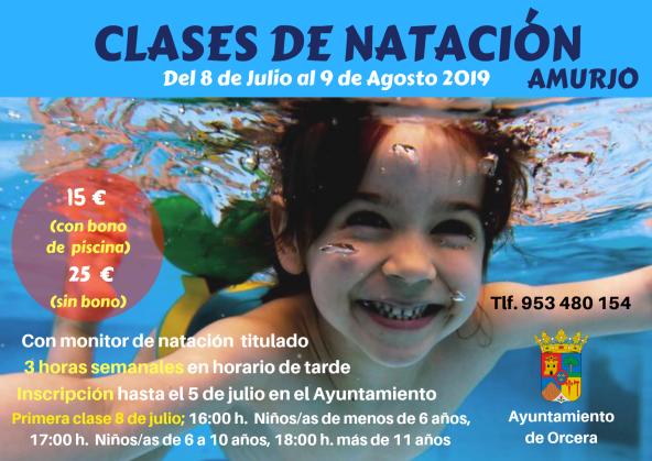 CLASES DE NATACIÓN 2019