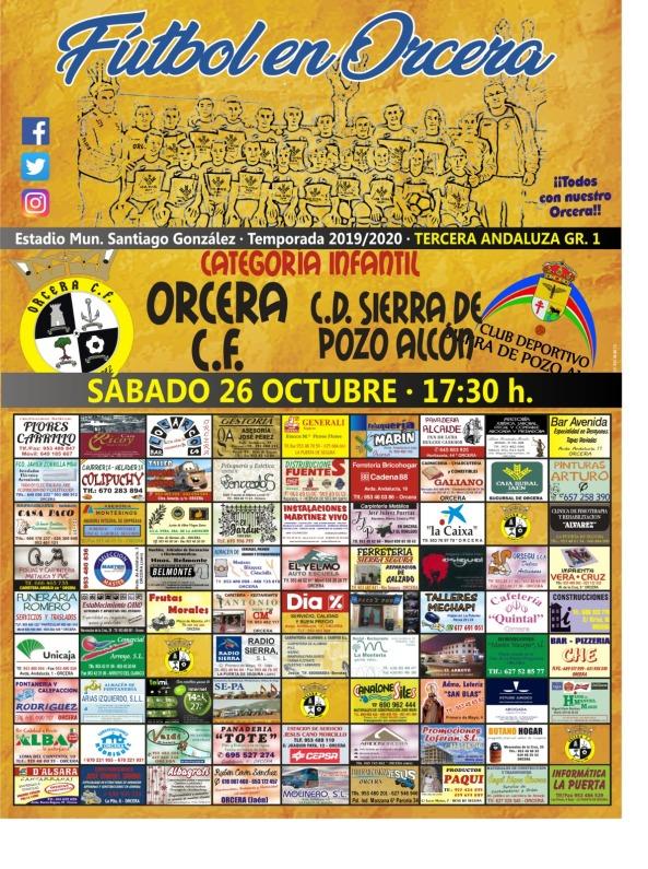 cartel partido Infantil 26-10-19