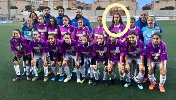 Carlota con la selección jiennense. nov. 2019