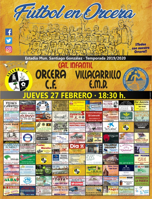 cartel orcera villacarrillo