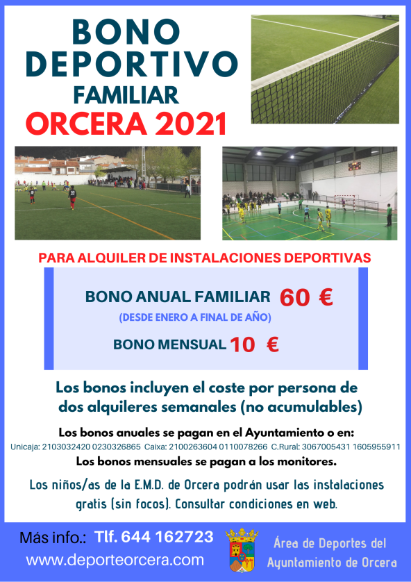 bono deportivo 2021